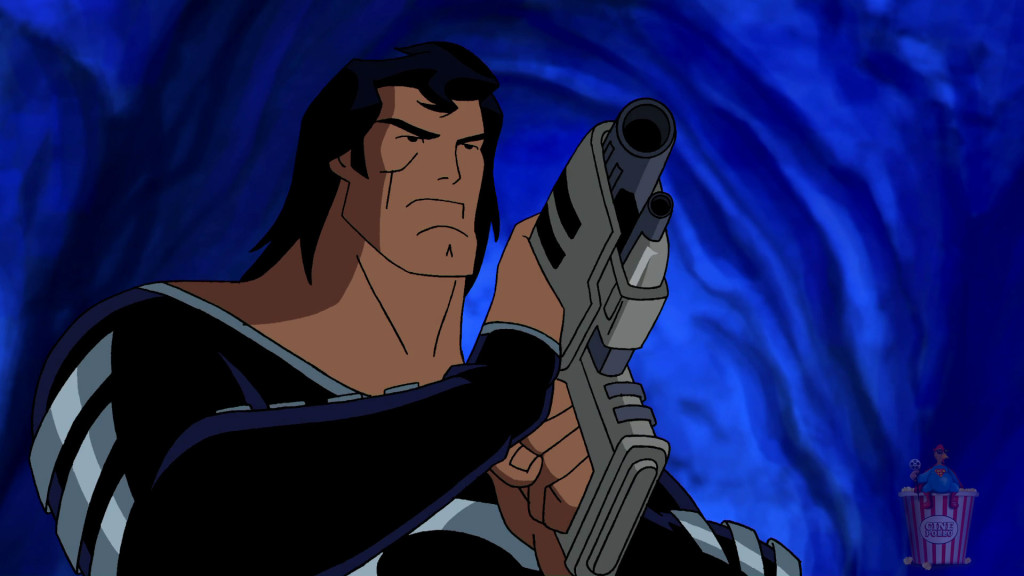¿Alguna vez has visto a Superman con un traje negro y una pistola?