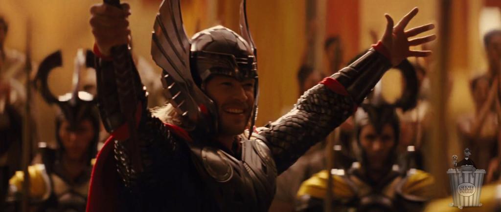 Única vez que vamos a ver a Thor con su casco.