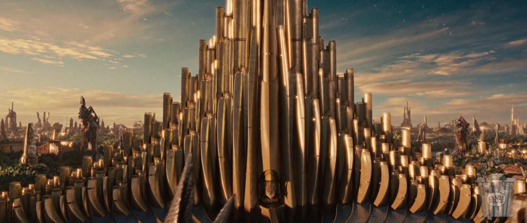 El palacio de Asgard fue inspirado por el órgano (instrumento musical).